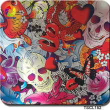 TSAUTOP Size 0.5m x 10m flower and skull pattern liquid image water transfer printing film hydrographics TS152