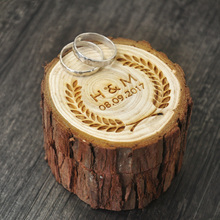Personalized Wedding / Valentine Engagement Wooden Ring Bearer Box Mariage Decorations Box
