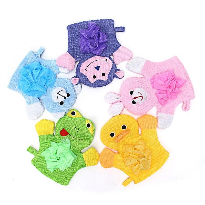 1pc Shower Sponge Exfoliating Wash Cloth Towel Cute Baby Cartoon Soft Bathing Bathroom Mitt Glove Foam Rub 10.5cm *13cm Furniture