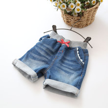 Girls Denim Shorts 2017 Summer Baby Soft Denim Shorts Girls Casual Summer Shorts Kids Cotton Summer Pants Child Shorts(China)
