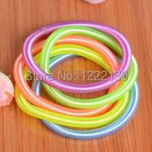 Fashion flexible spiral spring wire telephone line bracelet accessories for women girls