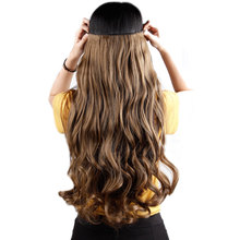 SNOILITE 22inch 5 clips on Curly Hairpiece clip in Hair Extensions Heat Resistant Fiber Synthetic Hair One Piece Only