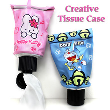 Creative Cartoon Animals Kitty Toothpaste Design Tissue Box Case Holder.Removable Roll Paper Napkin Tissue Boxes Container Pouch(China)