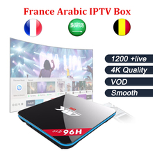 H96PRO Android tv box 7.1 3G 16G smart tv box with Best French Arabic IPTV subscription 1200 live+VOD Free test free shipping(China)