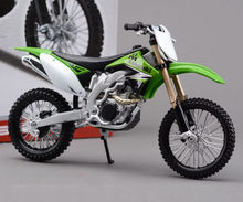 Collectible Moto 1/12 Scale Diecast kawasaki KX450F Motocycle Model DIY Toys For Children Assembly Motorbike Kit Gift