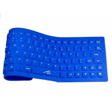 Newgrade 1PC 85 Keys USB Silicone Rubber Waterproof Flexible Foldable Keyboard For PC kinds of colors