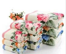 75*140cm Floral Pattern Cotton Bath Towels for Adults,Beach Terry Bath Towels Bathroom,Flower Bath Towel,Serviette de Bain