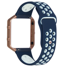 V-MORO  New Soft Silicone Sports Band for Fitbit Blaze Tracker Replacement Band with Metal Frame with Quick Release Pins
