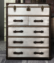 Storage American village to do the old chest of drawers aluminum metal rivets high-end custom furniture bedside cabinets(China)