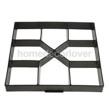 DIY Plastic Garden Path Maker Mold Manually Paving Cement Brick Mould Stepping Stone Road Making Tool(China)