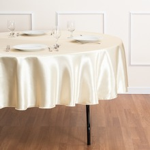 Fedex IE 90 in./230cm Round Satin Tablecloth butter for Wedding Event Banquet Party 20/Pack(China)