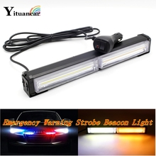 Yituancar COB LED Strobe Flash Warning Car Light Bar Control Switch 14 Modes Styling Fireman Police Traffic Emergency Work Lamp(China)