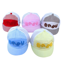 Soft Ajustable Caps Baby Kids Cap Letters Pattern Boys Girls Caps Infant Casual Sun Hat(China)