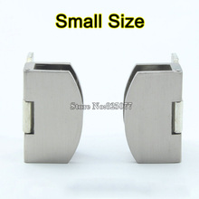 Small Size Glass Door Hinges Zinc Alloy Glass Hinge Brushed Hinge Apply Glass Thickness 5-8mm Hardware Wholesale KF802