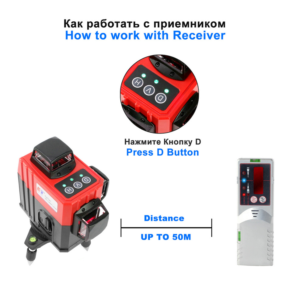 Kaitian Laser Level MR3D5M receiver LE