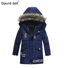 Gourd doll 2017 Spring Winter Boys Jacket for Boys Children Clothing Hooded Outerwear & Coats Baby Boy Clothes 3 4 5 6 7 8 Year