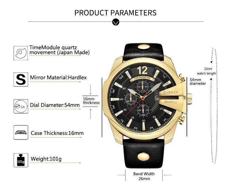 18 Style Fashion Watches Super Man Luxury Brand CURREN Watches Men Women Men's Watch Retro Quartz Relogio Masculion For Gift 8