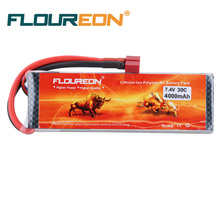 FLOUREON 2S 7.4V 4000mAh 30C Li-Polymer Battery Pack (Deans Plug) for RC Car / Tamiya Cars / Aquacraft Motley Crew Spare Parts(China)