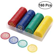 160Pcs Plastic Bingo Chips Number Markers For Bingo Game Counters Games 4 Colors(China)
