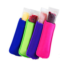 2000pcs/lot free shipping neoprene ice sleeves popsicle holders mixed colors pop ice sleeves summer icy block lolly 8*16cm(China)