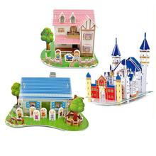 Educational 3D Wood Puzzles DIY Adults Kids German Architecture Children Gift Baby Kid's Toys Building 3D Wood Building Model(China)
