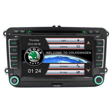 Cheap Car DVD Player GPS Navigation Two Din 7 Inch For Volkswagen VW Skoda POLO PASSAT B6 CC TIGUAN GOLF 5 Fabia support 1080p(China)