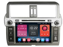 4G lite 2GB ram Android 6.0 quad core car dvd player stereo gps tape recorder for toyota prado 2014 2015 landcruiser head units