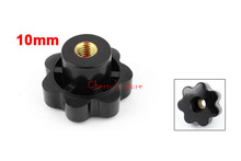 Most Favorable Wholesale Price 10 Pcs/lot 50mm Dia M10 Thread Screw On Type Black Plastic Star Head Clamping Knob Grip
