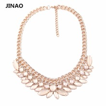 Jinao Rushed Collares Mujer Jewelry 2015 New Arrival Gold Filled And Cateye Pendants Necklaces Choker Necklace For Women.Gift(China)