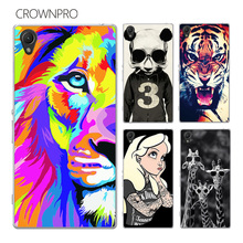 CROWNPRO sFOR Sony Xperia Z1 Case Cover L39H C6902 C6903 C6906 Colorful Painting Phone Back Protector FOR Sony Z1 Case Xperia Z1
