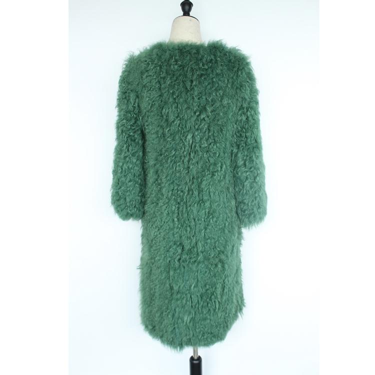 women natural lamb sheep fur coat (9)