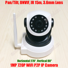 P2P WiFi 720P 1MP HD Wireless Pan Tilt Nanny IP Camera 1 Megapixel Home Video Baby Monitor Robot Camera iOS Android Mobile Phone