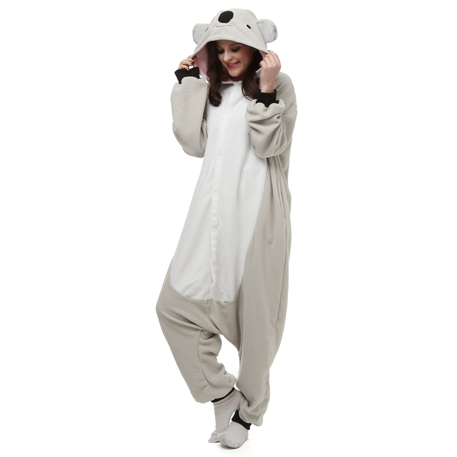 Kigurumi-Anime-Cosplay-Costume-Grey-Koala-Animal-Onesie-Pajama