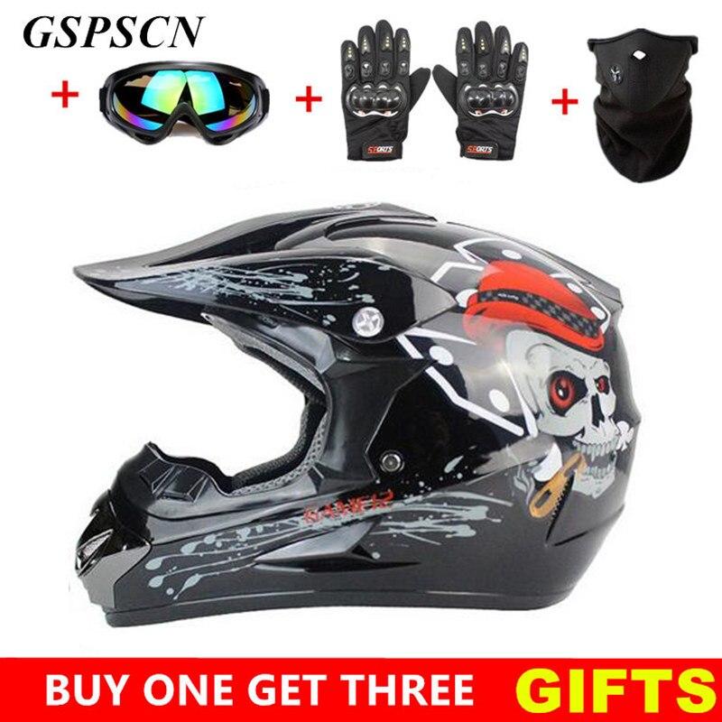 GSPSCN Motocross Helmet Off Road Professional ATV Cross Helmets MTB DH Racing Motorcycle Helmet Dirt Bike Capacete de Moto casco<br>