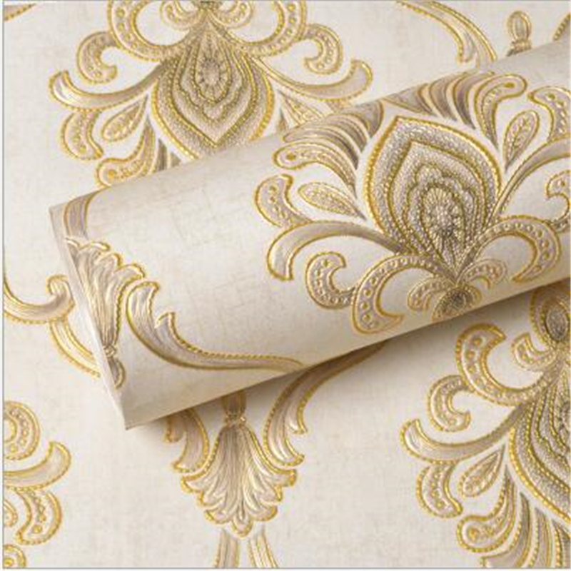 beibehang European luxury non-woven wallpaper high-end fine embossed wallpaper AB with living room bedroom TV background<br>