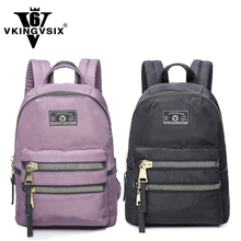2pcs/lot nylon material backpacks for women Black/Purple school bags for teenagers 14~15.6 laptop backpack Girl mochila escolar