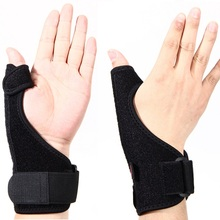 Sport Wrist Thumbs Hand Support Brace Guard Training Wrist Protector Splint Sprain Thumb Stabiliser Arthritis Pain Relief Black
