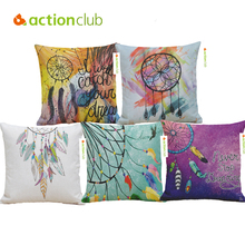 Actionclub Decorative Pillows Nordic Style Lucky Feather Pillow Cover Waist Pillowcase Coffee Supplies Cushion Cover HH1889(China)