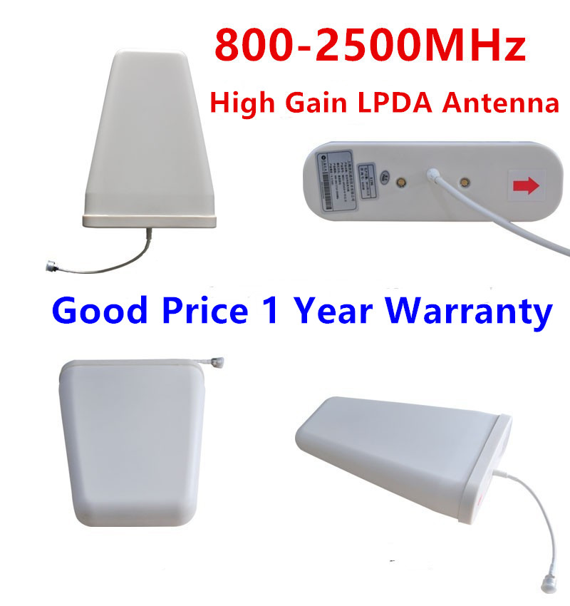 Outdoor LPDA Antenna high gain 800-2500MHz GSM 2G 3G 4G Log Periodic Antenna External Antenna For Mobile Phone Signal Booster(China)