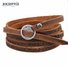 One Piece Wounded Men Leather Bracelet Minimalist Style 2017 April New Arrival