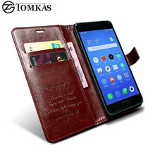 TOMKAS Cover Case For Meizu M5 Note (5.5 inch) PU Leather Wallet Stand Flip Style For Meizu M5 Note Cases Cover Phone Bags