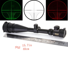 11mm/20mm Rail 6-24X50 Adjustable Green Red Dot Illuminated Hunting Tactical Riflescope Reticle Optical Sight Scope
