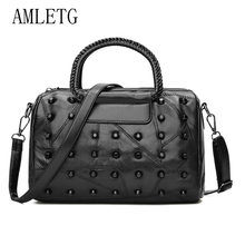 d7ee5558167e Handbag AMLETG New Travel Finishing Bag Large Capacity Sheepskin Rivet  Fashion Handbags Ladies Bags Luggage Travel