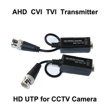 Free ship UTP BNC CCTV Video Balun Passive Transceivers receiver Cat5 CCTV spare parts Support AHD HDCVI TVI Camera Up to 300m