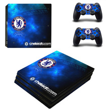 Chelsea Football Team PS4 Pro Skin Sticker Decal For Sony PS4 PlayStation 4 Pro Console and 2 Controllers Stickers