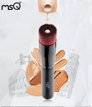 MSQ 1pcs Liquid Foundation Oval Makeup Brush Pro Powder Foundation Kabuki Brush Premium Face Make up Tool Beauty Cosmetics(China)