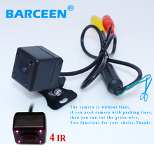 New Arrival Waterproof Car Rearview Rear View Camera For Vehicle Parking Reverse System With 4 IR Leds Night Vision Free Ship(China)