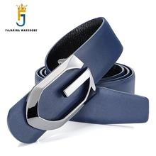 Buy FAJARINA Unique Real Cowhide Letter Slide Buckle Metal Blue Belts Men Leather Mens Fashion Design Belt Jeans LUFJ410 for $23.50 in AliExpress store