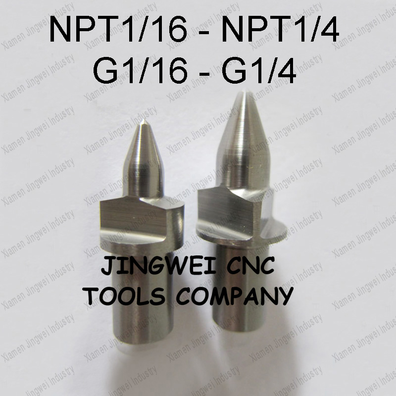 Tungsten carbide flow drill form drill America  and imperial pipe thread flow drillNPT BSP  G 1/16 1/8  1/4  Flat type <br>