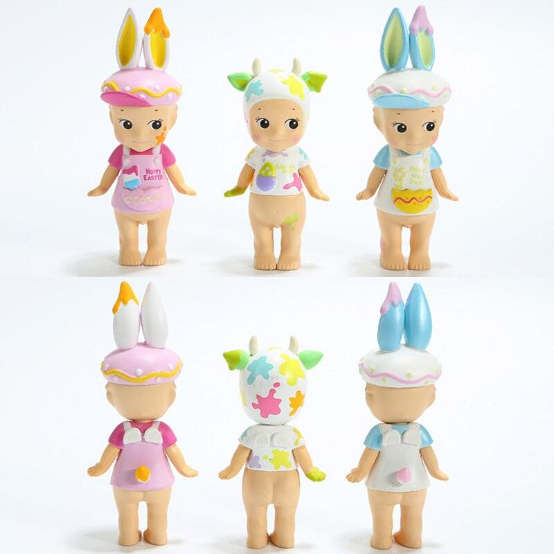 6pcs set Sonny Angel Mini Figure 2018 Version  Happy Easter Series PVC Action Figures Toys Dolls Gift for Kids Children  (2)